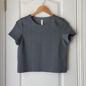 Lululemon Athletica Blue-grey Crop Top Size 4
